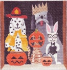 click here to view larger image of Howloween II (hand painted canvases)