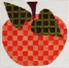 click here to view larger image of Check Pumpkin (hand painted canvases)