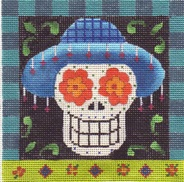 click here to view larger image of Day Of The Dead - Sugar Skull (hand painted canvases)