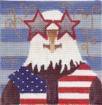 click here to view larger image of Arties July 4th Party (hand painted canvases)