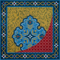click here to view larger image of Persian Perfection (hand painted canvases)