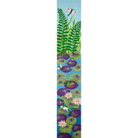 click here to view larger image of Frogs and Lily Pads Bell Pull (hand painted canvases)