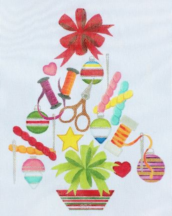 click here to view larger image of Needlepoint Tree (hand painted canvases)