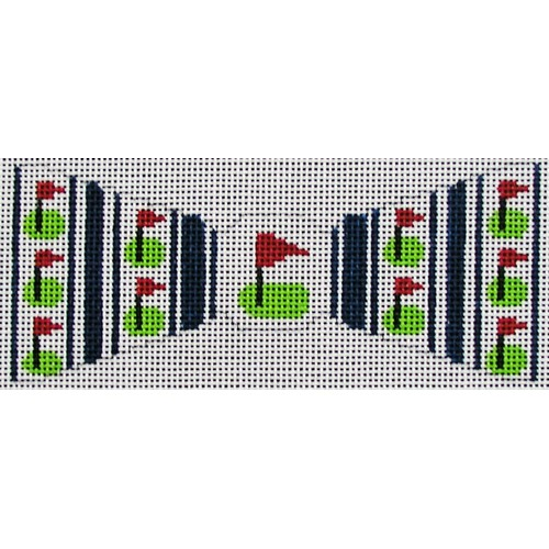 click here to view larger image of Golf Flags Bowtie (hand painted canvases)