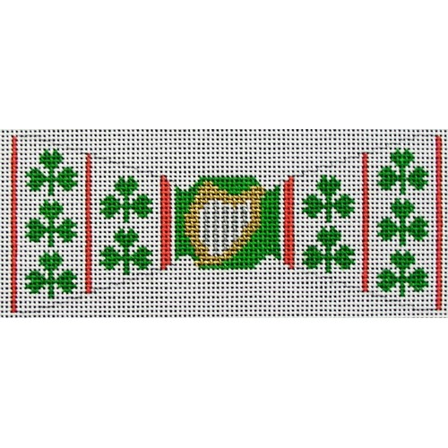 click here to view larger image of Irish Clover Bowtie (hand painted canvases)