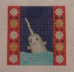 click here to view larger image of Arctic Animals - Narwhal (hand painted canvases)