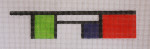 click here to view larger image of Bracelet - Mondrian (hand painted canvases)