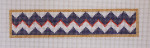 click here to view larger image of Bracelet - Navy Zig-Zag (hand painted canvases)