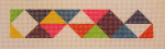 click here to view larger image of Bracelet - Colorful Triangles (hand painted canvases)
