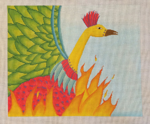 click here to view larger image of Green Winged Phoenix (hand painted canvases)