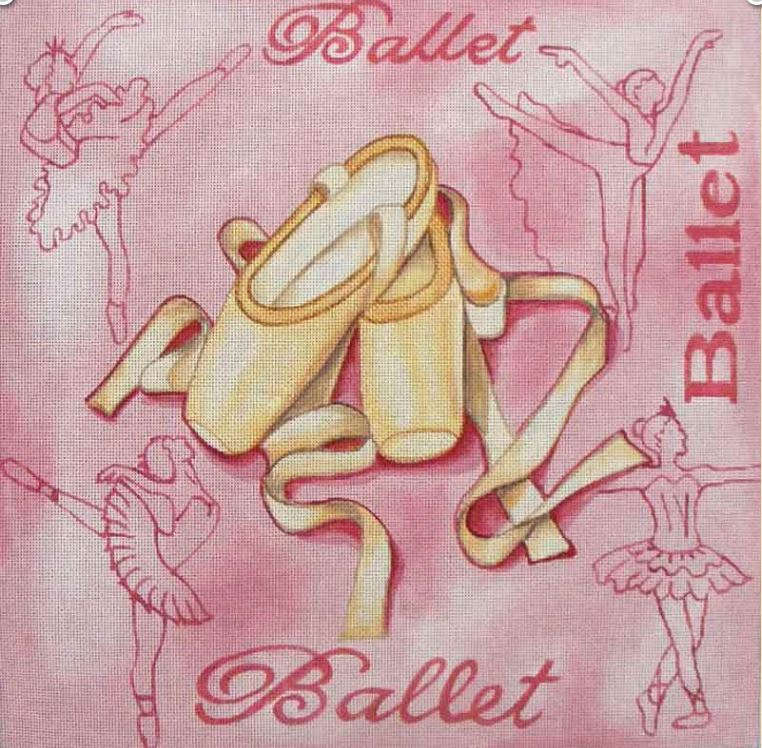 click here to view larger image of Ballet Shoes (hand painted canvases)