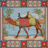 click here to view larger image of Camel Oasis Pillow (hand painted canvases)