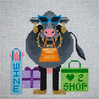 click here to view larger image of Shop Until The Cows Come Home (hand painted canvases)
