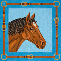 click here to view larger image of Chestnut Horse (hand painted canvases)