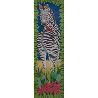 click here to view larger image of Jungle Zebra Bellpull (hand painted canvases)