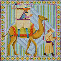 click here to view larger image of Camel Rider (hand painted canvases)