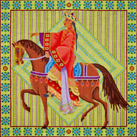 click here to view larger image of Horse Rider (hand painted canvases)