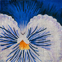 click here to view larger image of Blue Pansy (hand painted canvases)
