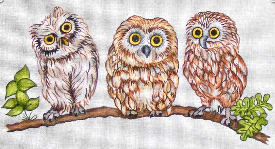 click here to view larger image of Baby Owls (hand painted canvases)