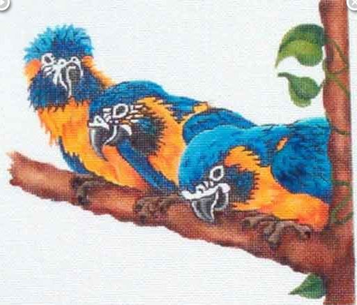click here to view larger image of Birds On Branch (hand painted canvases)