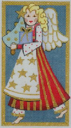 click here to view larger image of Angel With Tree Ornament (hand painted canvases)