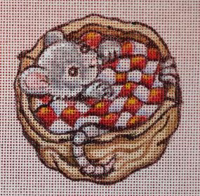 click here to view larger image of Baby Mouse With Blanket Ornament (hand painted canvases)