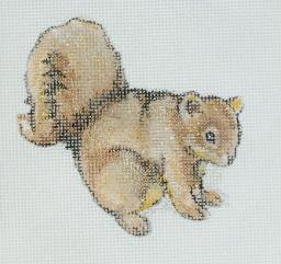 click here to view larger image of Squirrel Ornament (hand painted canvases)