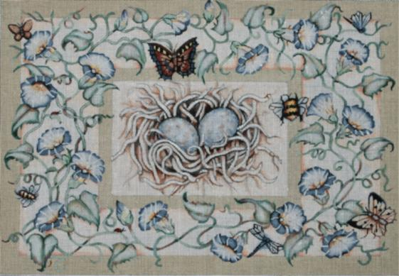 click here to view larger image of Spring Nest (hand painted canvases)
