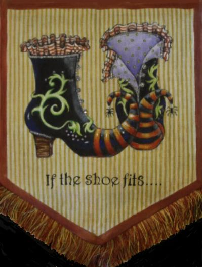 click here to view larger image of If The Shoe Fits (hand painted canvases)