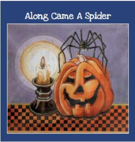 click here to view larger image of Along Came A Spider (hand painted canvases)