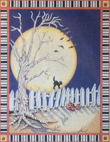 click here to view larger image of Spooky Halloween (hand painted canvases)