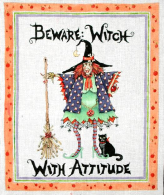 click here to view larger image of Witch With Attitude (hand painted canvases)