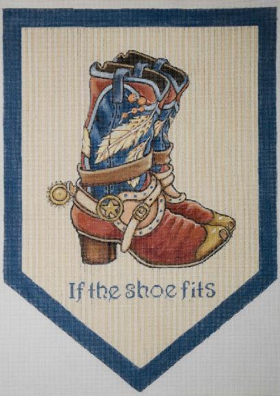 click here to view larger image of If The Shoe Fits - Boot (hand painted canvases)