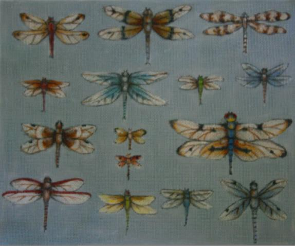 click here to view larger image of Dragonflies (hand painted canvases)