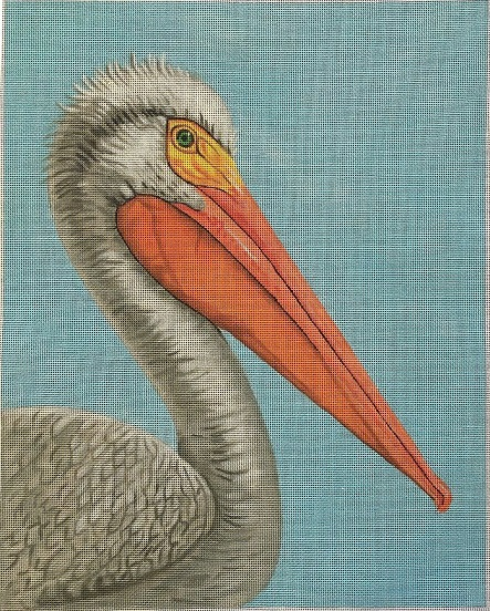 click here to view larger image of White Pelican (hand painted canvases)