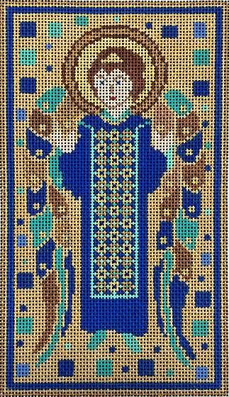 click here to view larger image of Cloisonne Angel - Rectangle (hand painted canvases)