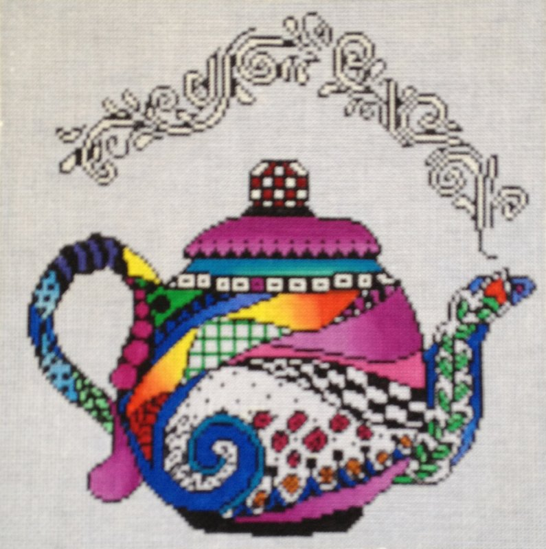 click here to view larger image of Teapot (hand painted canvases)