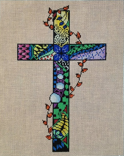 click here to view larger image of Cross (hand painted canvases)