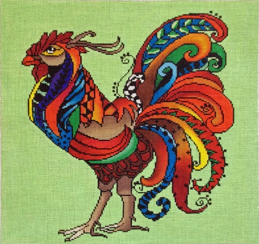 click here to view larger image of Rooster  (hand painted canvases)