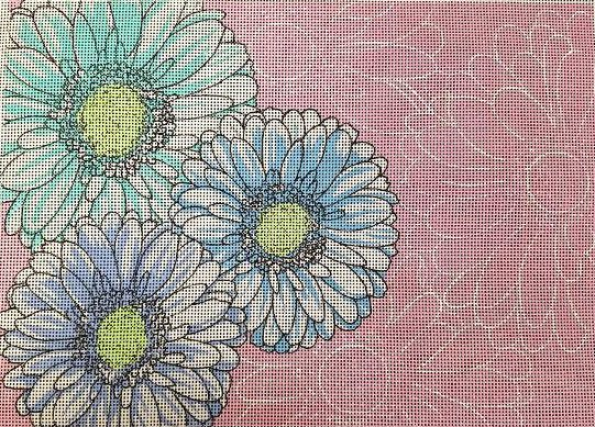 click here to view larger image of Summer Floral Print (hand painted canvases)