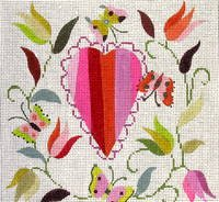 click here to view larger image of Butterfly Heart (hand painted canvases)