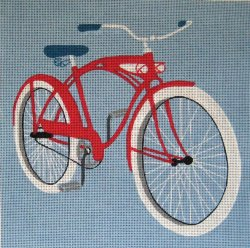 click here to view larger image of Bike Cruising (hand painted canvases)
