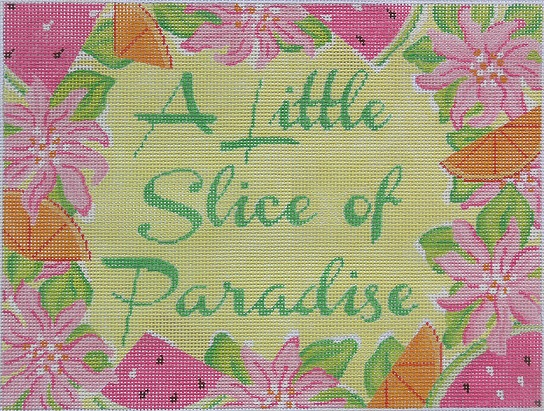 click here to view larger image of A Little Slice Of Paradise - Lilly (hand painted canvases 2)