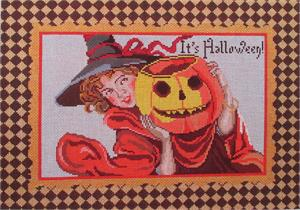 click here to view larger image of Pumpkin Scene (hand painted canvases)