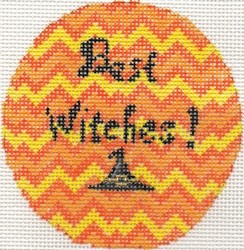 click here to view larger image of Best Witches Round (hand painted canvases)