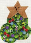 click here to view larger image of Christmas Tree Mini Sock - V (hand painted canvases)