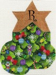 click here to view larger image of Christmas Tree Mini Sock - R (hand painted canvases)