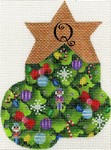 click here to view larger image of Christmas Tree Mini Sock - Q (hand painted canvases)