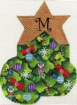 click here to view larger image of Christmas Tree Mini Sock - M (hand painted canvases)