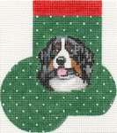 click here to view larger image of Bernese Mountain Dog Mini Sock (hand painted canvases)
